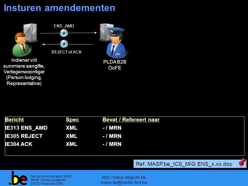 Insturen amendementen