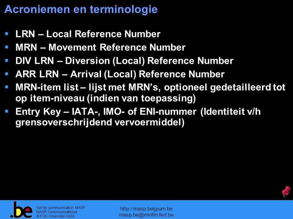 Acroniemen en terminologie