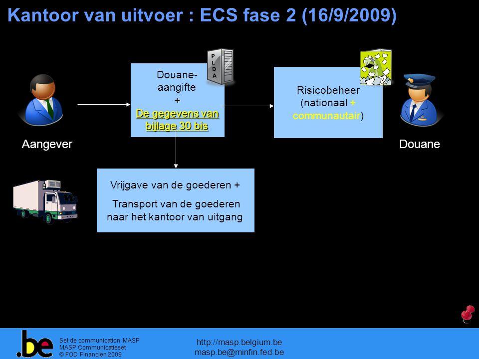 Kantoor van uitvoer : ECS fase 2 (16/9/2009)