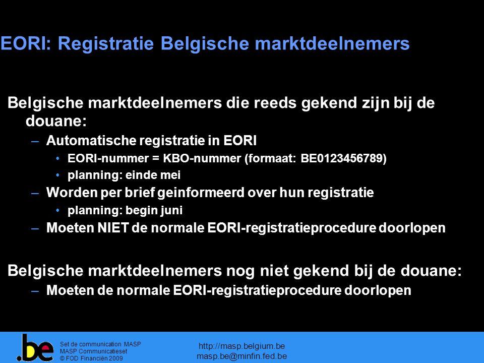 EORI: Registratie Belgische marktdeelnemers