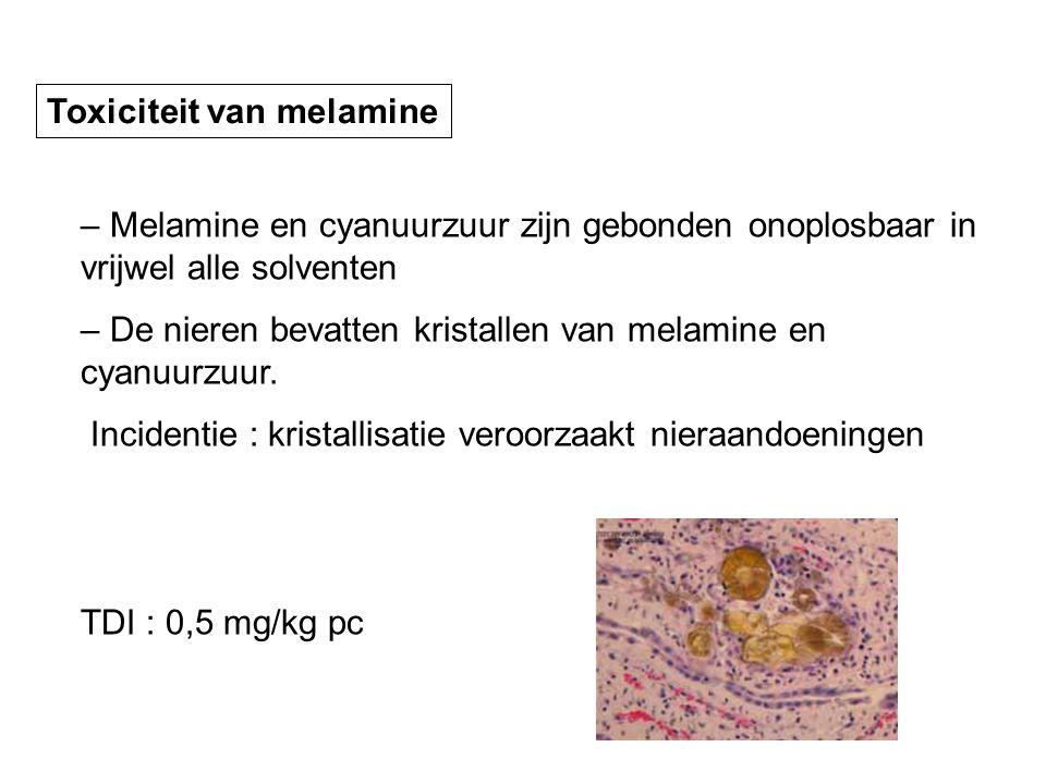 Toxiciteit van melamine