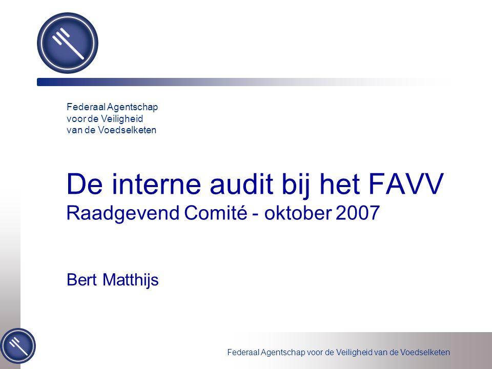 De interne audit bij het FAVV Raadgevend Comité - oktober 2007