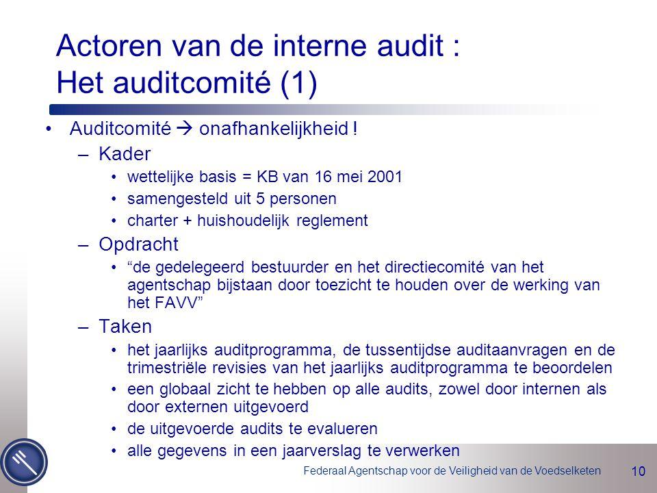 Actoren van de interne audit : Het auditcomité (1)