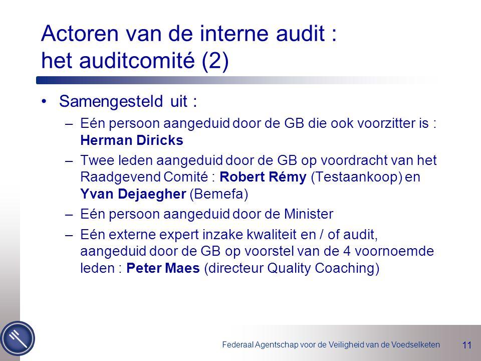 Actoren van de interne audit : het auditcomité (2)