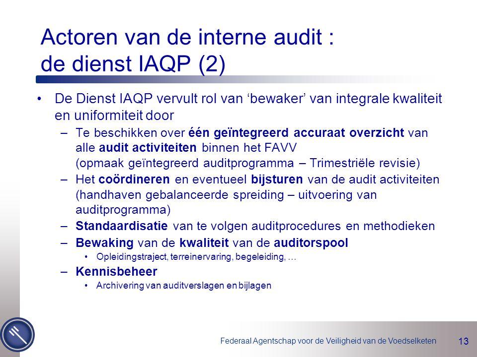 Actoren van de interne audit : de dienst IAQP (2)
