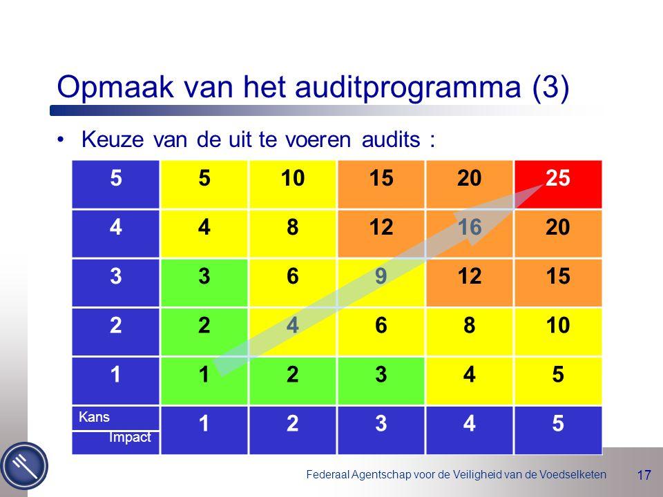 Opmaak van het auditprogramma (3)