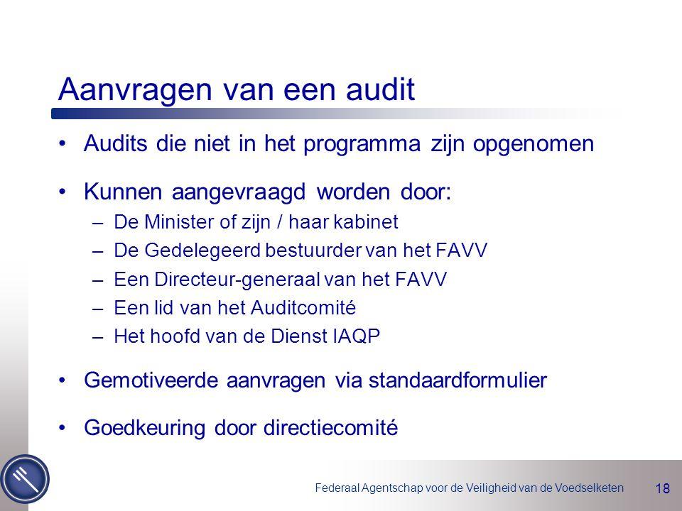 Aanvragen van een audit