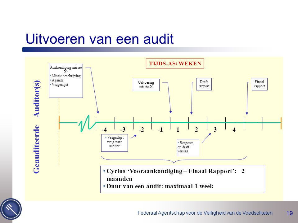 Uitvoeren van een audit