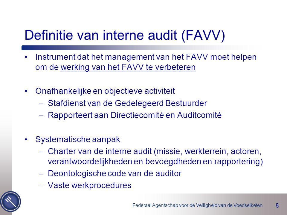 Definitie van interne audit (FAVV)