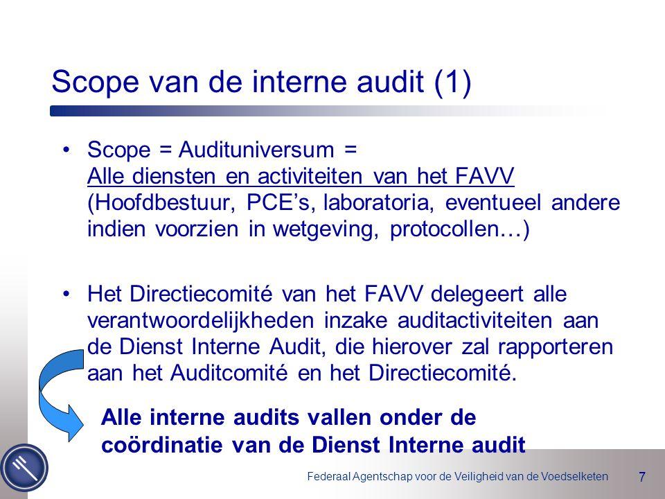 Scope van de interne audit (1)