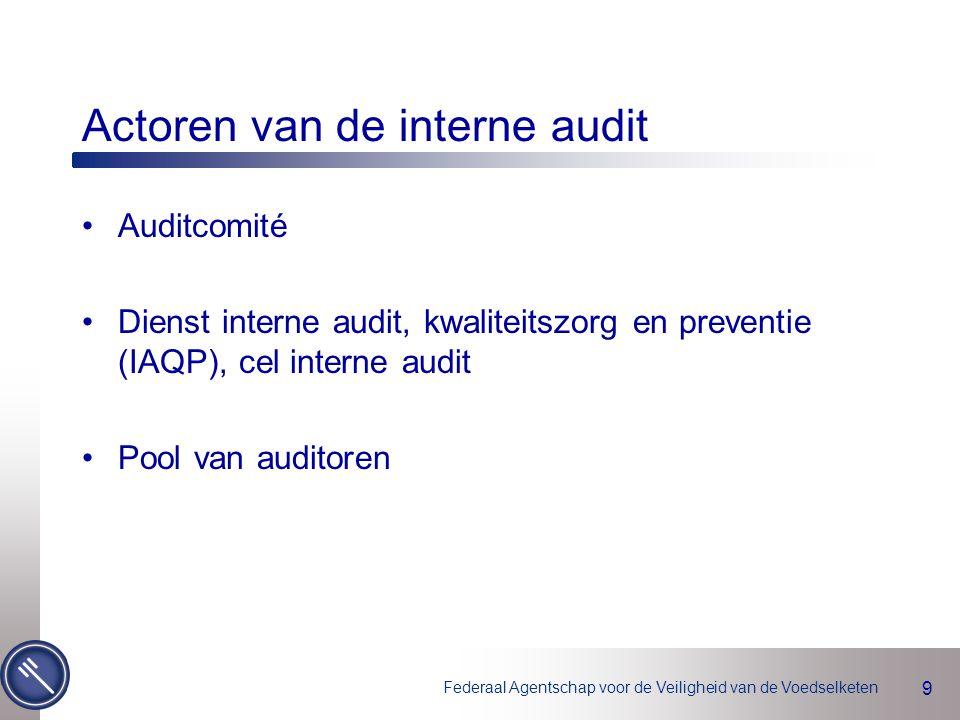 Actoren van de interne audit