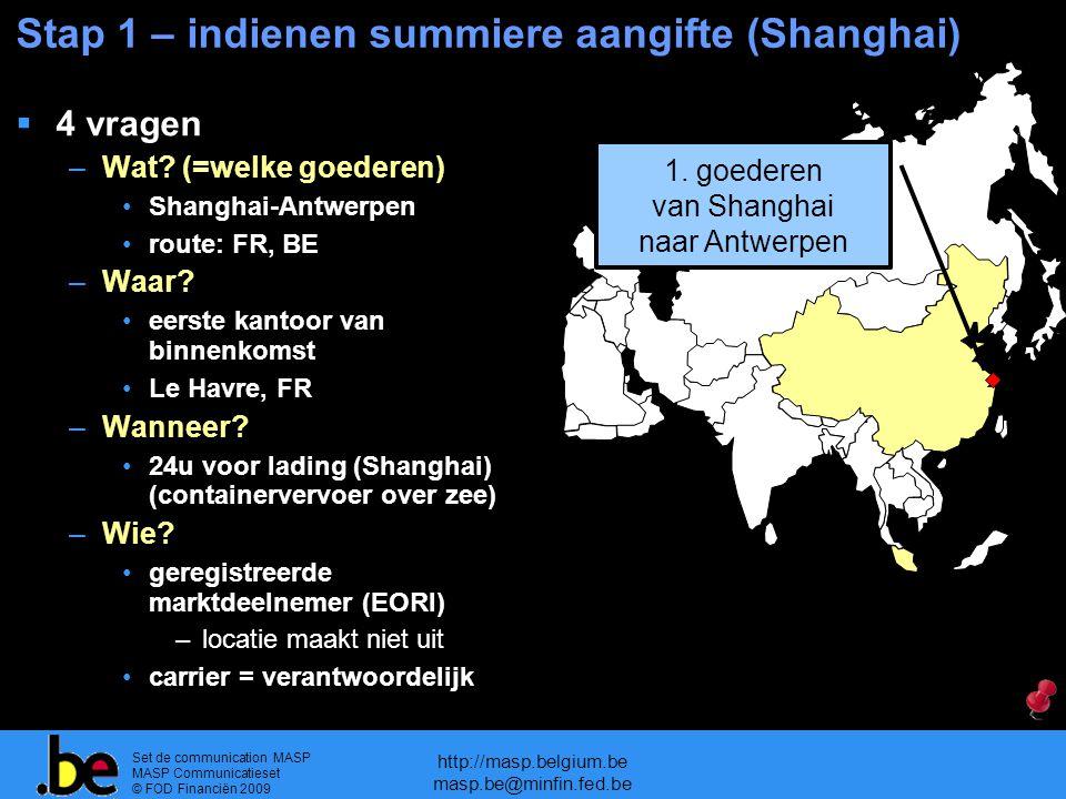 Stap 1 – indienen summiere aangifte (Shanghai)