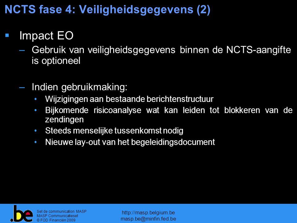 NCTS fase 4: Veiligheidsgegevens (2)