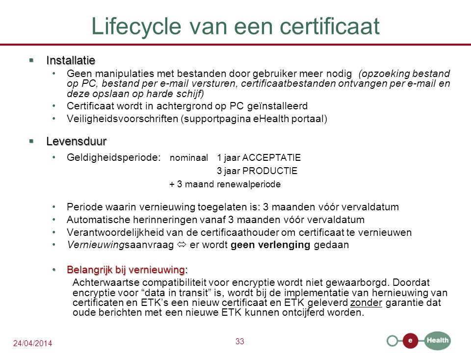 Lifecycle van een certificaat