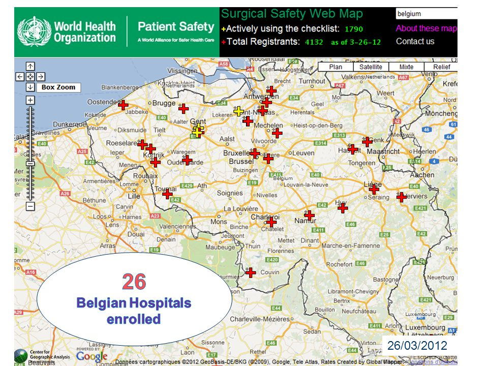 Belgian Hospitals enrolled