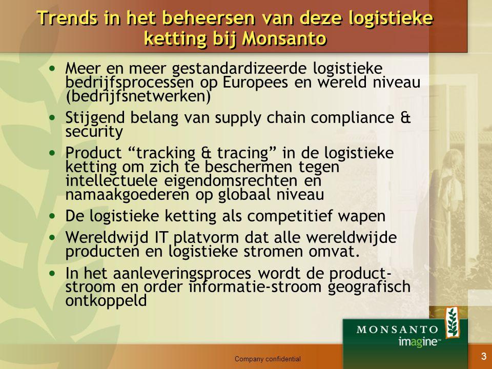 Trends in het beheersen van deze logistieke ketting bij Monsanto