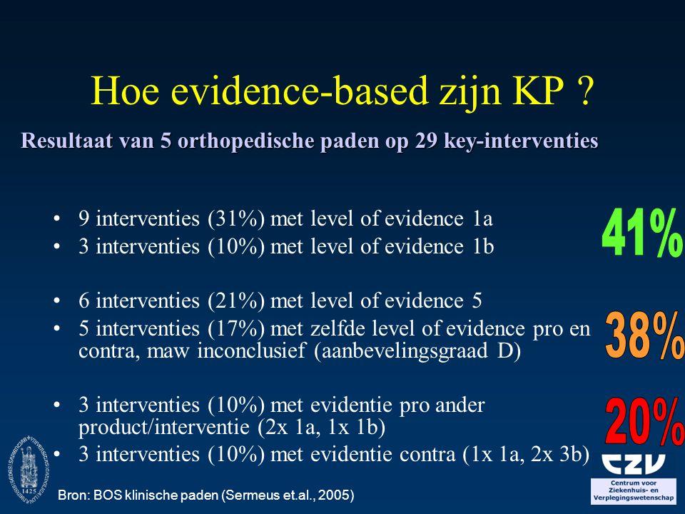 Hoe evidence-based zijn KP