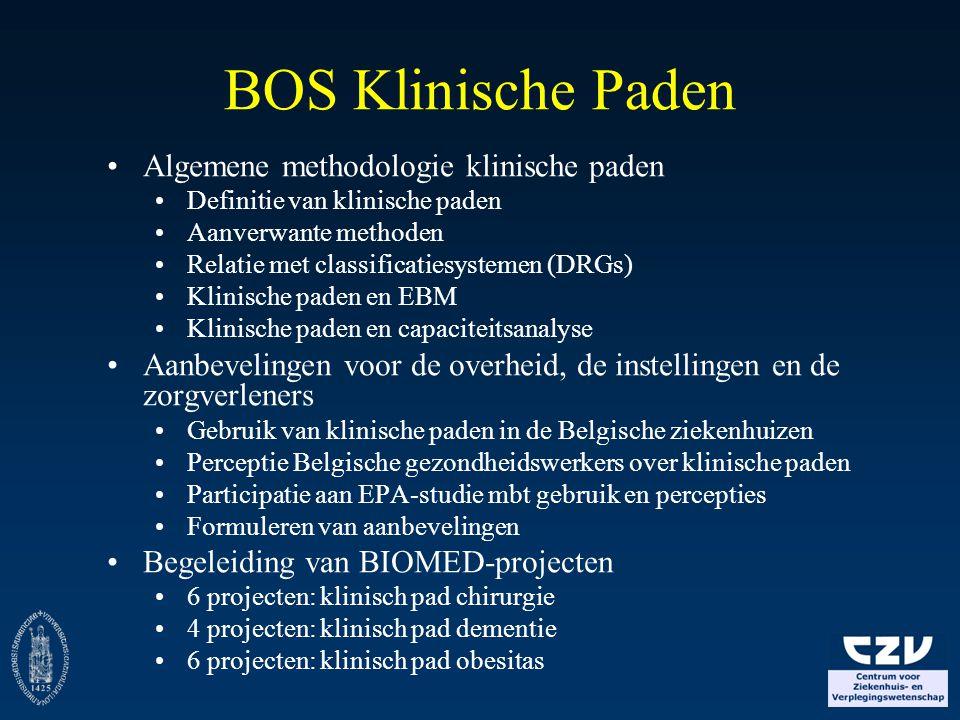 BOS Klinische Paden Algemene methodologie klinische paden