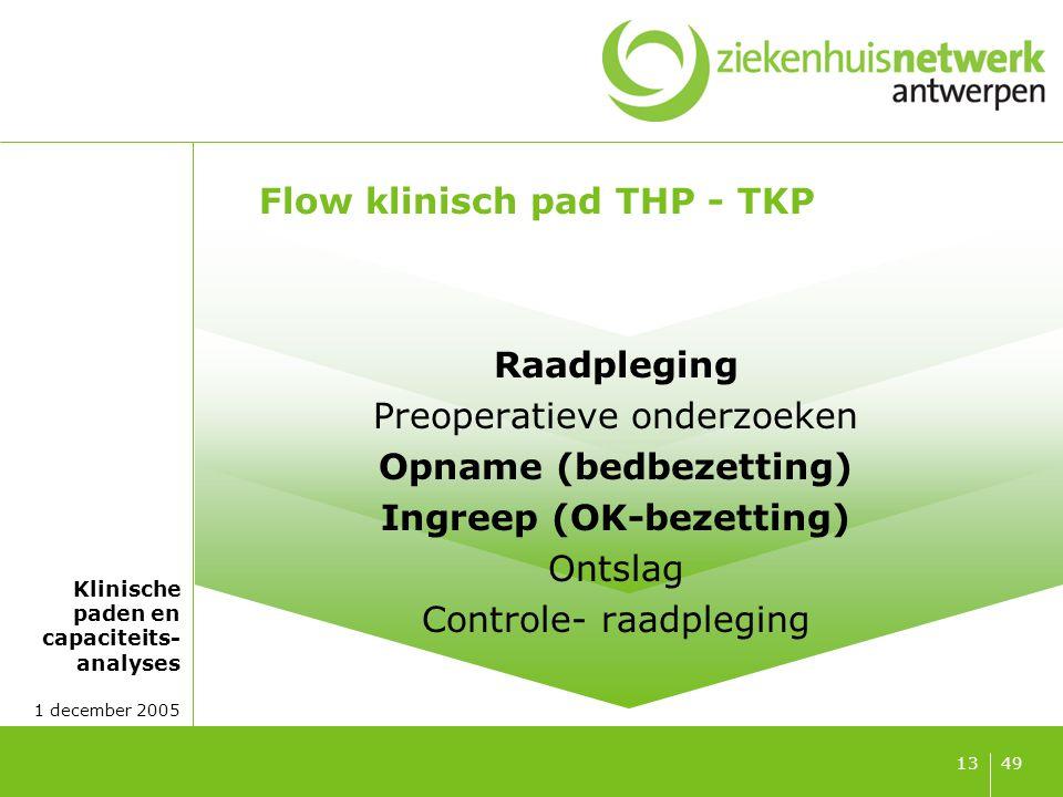 Flow klinisch pad THP - TKP