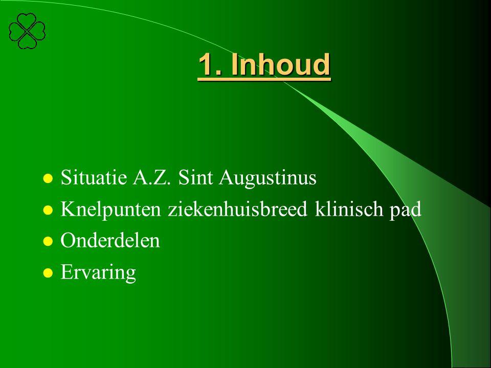 1. Inhoud Situatie A.Z. Sint Augustinus