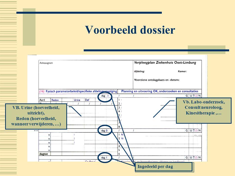 Voorbeeld dossier Vb. Labo-onderzoek, Consult neuroloog,