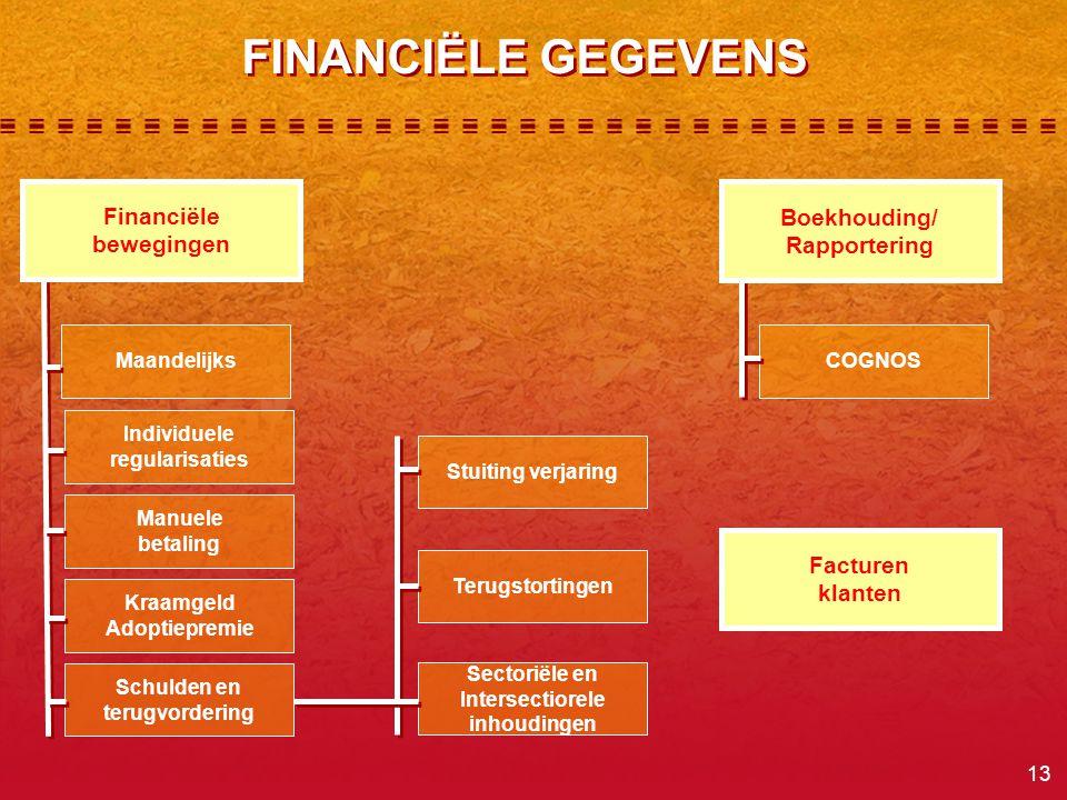 FINANCIËLE GEGEVENS Financiële bewegingen Boekhouding/ Rapportering