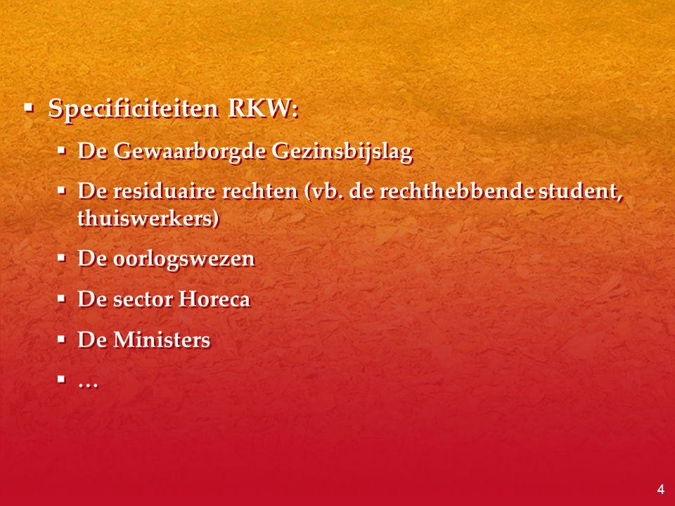 Specificiteiten RKW: De Gewaarborgde Gezinsbijslag