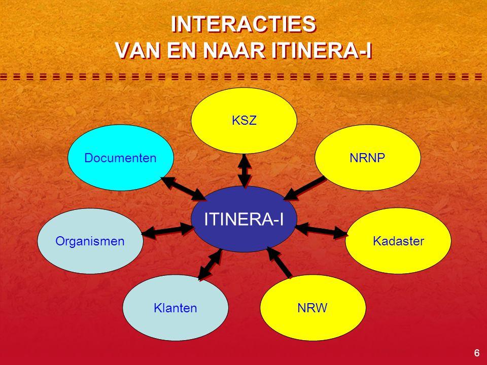 INTERACTIES VAN EN NAAR ITINERA-I