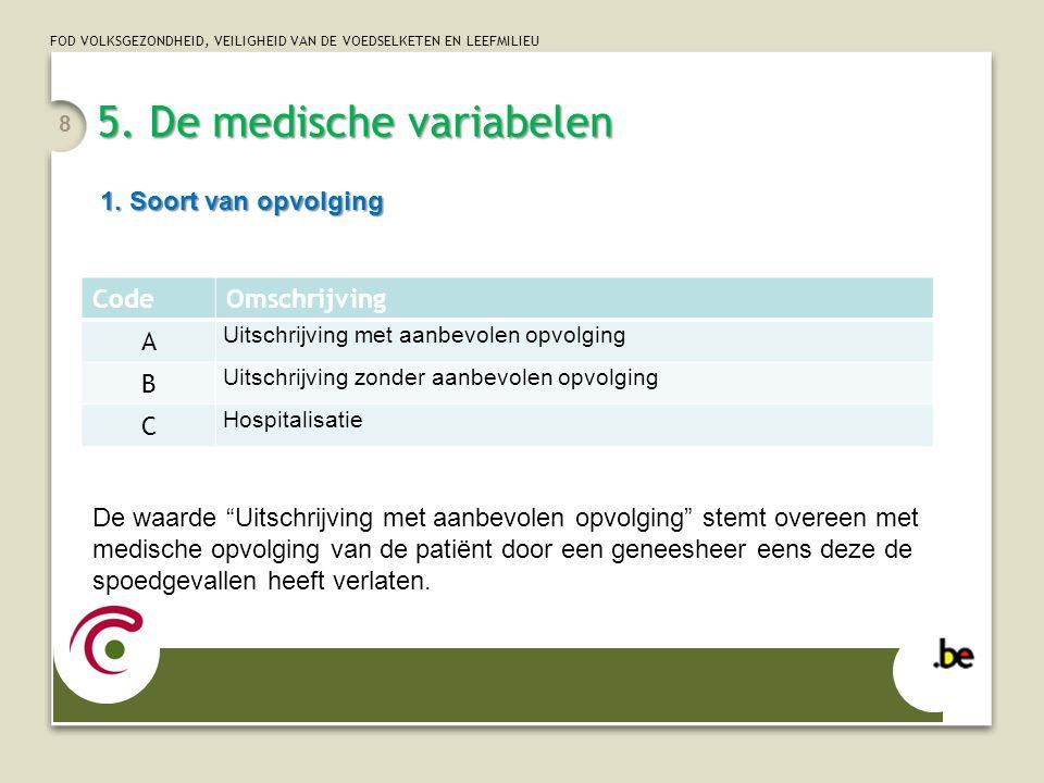 5. De medische variabelen
