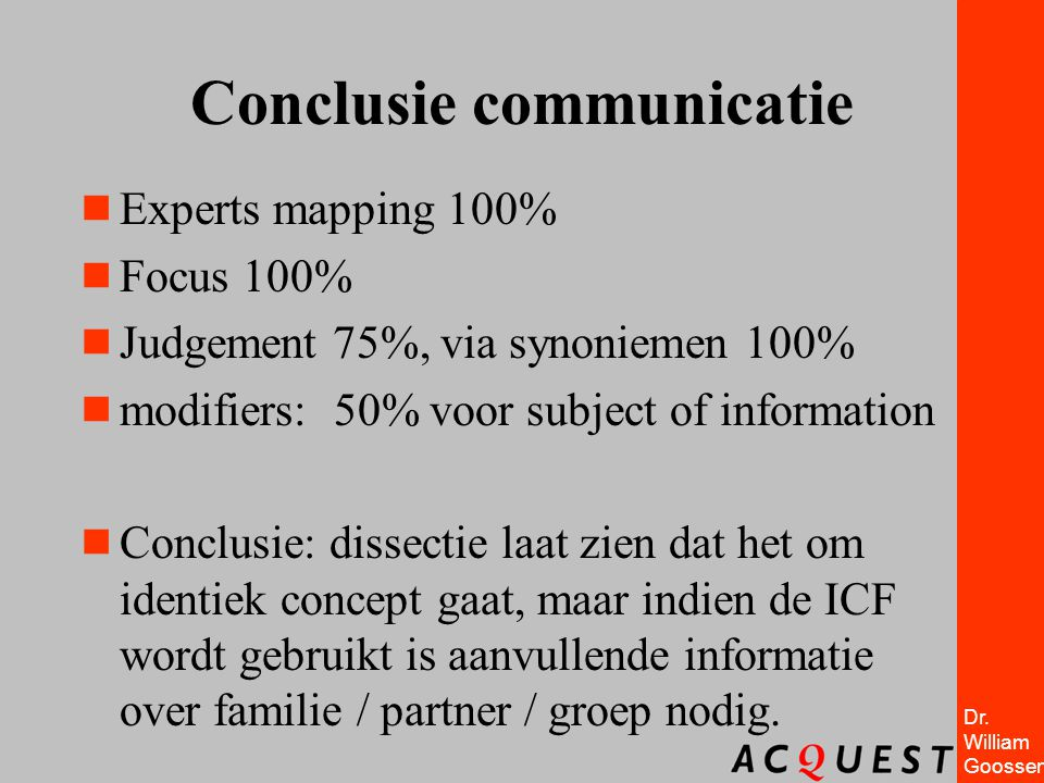 Conclusie communicatie