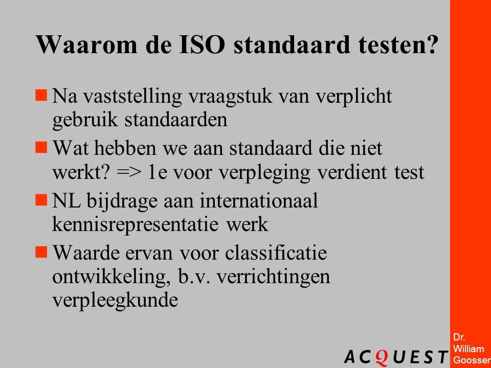 Waarom de ISO standaard testen
