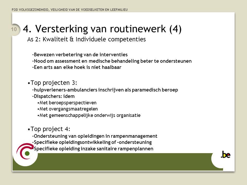 4. Versterking van routinewerk (4)