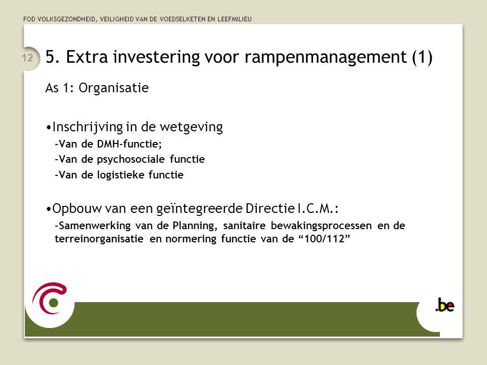 5. Extra investering voor rampenmanagement (1)