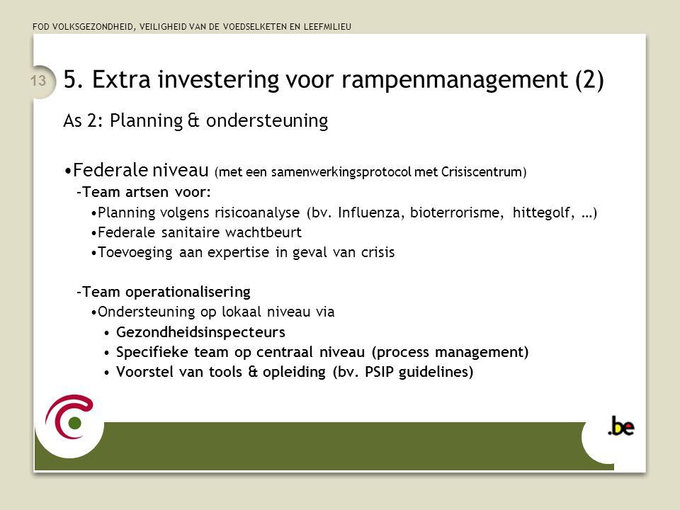 5. Extra investering voor rampenmanagement (2)