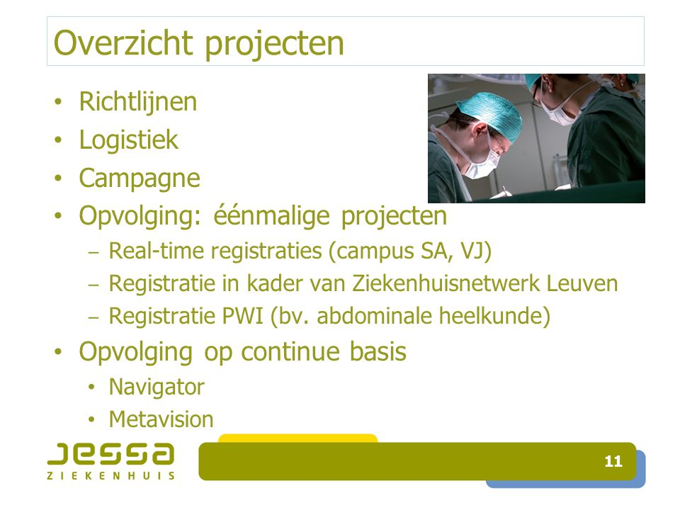 Overzicht projecten Richtlijnen Logistiek Campagne