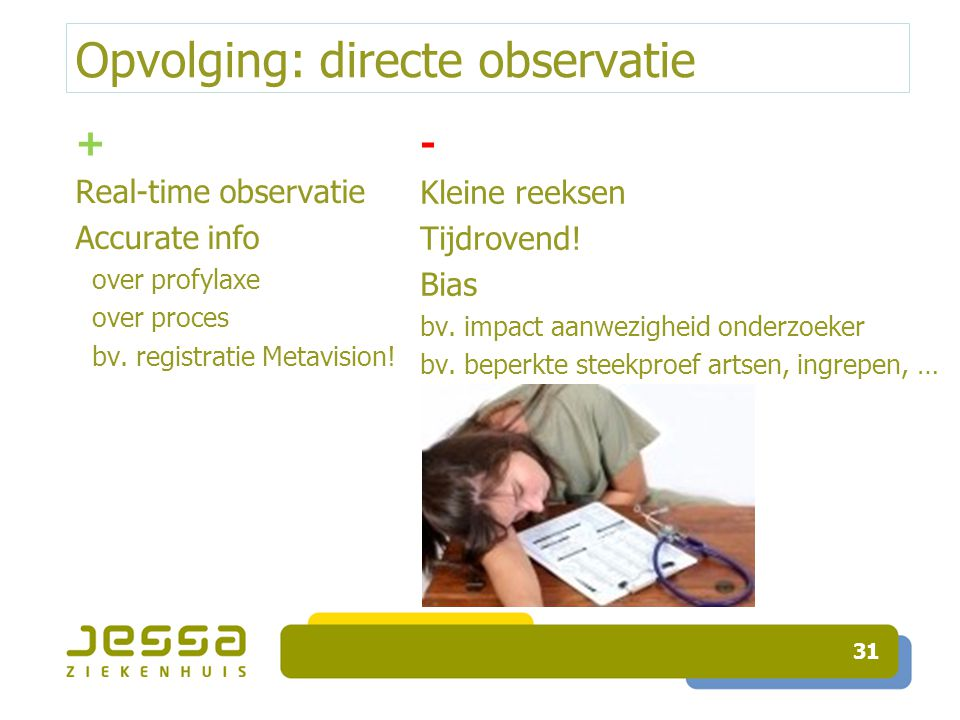 Opvolging: directe observatie