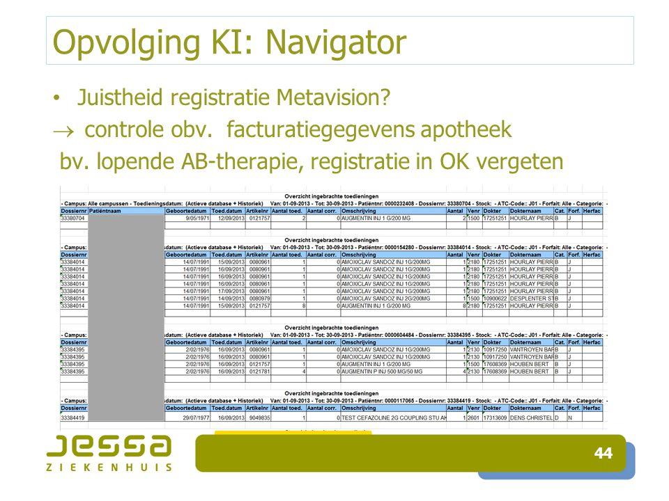 Opvolging KI: Navigator