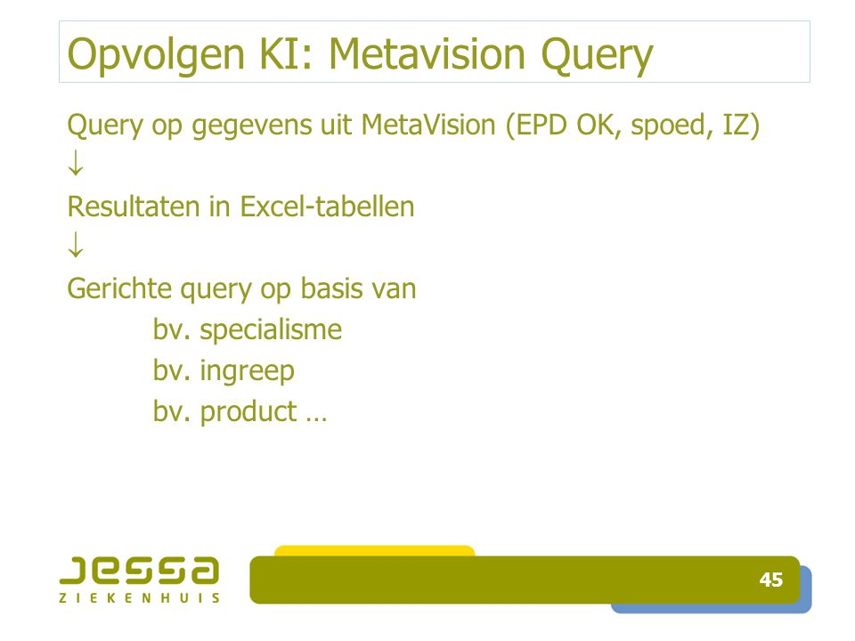 Opvolgen KI: Metavision Query