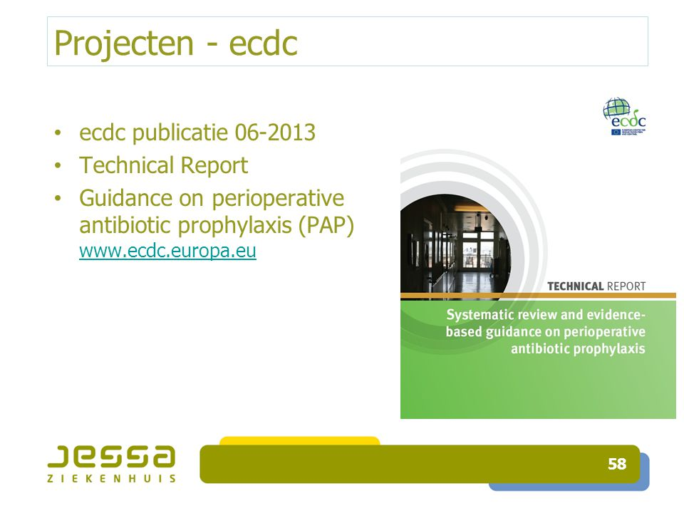 Projecten - ecdc ecdc publicatie 06-2013 Technical Report