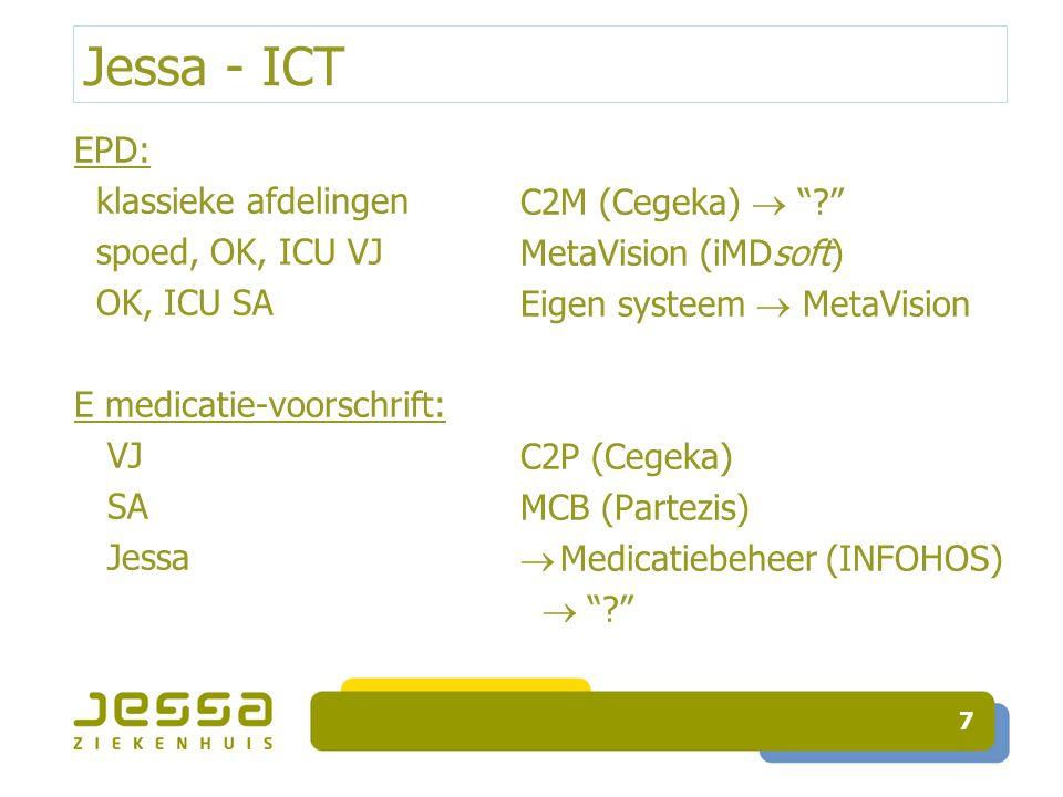 Jessa - ICT EPD: klassieke afdelingen spoed, OK, ICU VJ OK, ICU SA E medicatie-voorschrift: VJ SA Jessa