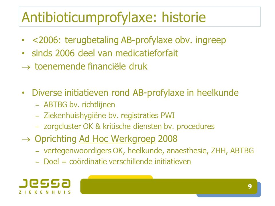 Antibioticumprofylaxe: historie