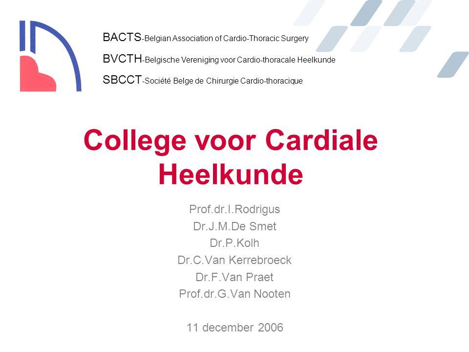 College voor Cardiale Heelkunde