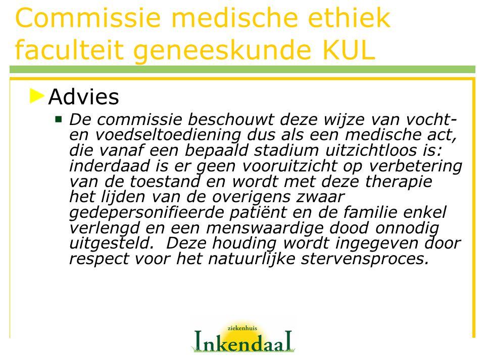 Commissie medische ethiek faculteit geneeskunde KUL