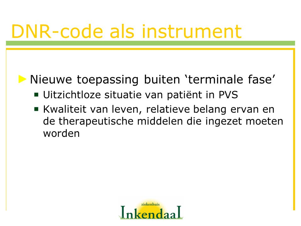 DNR-code als instrument