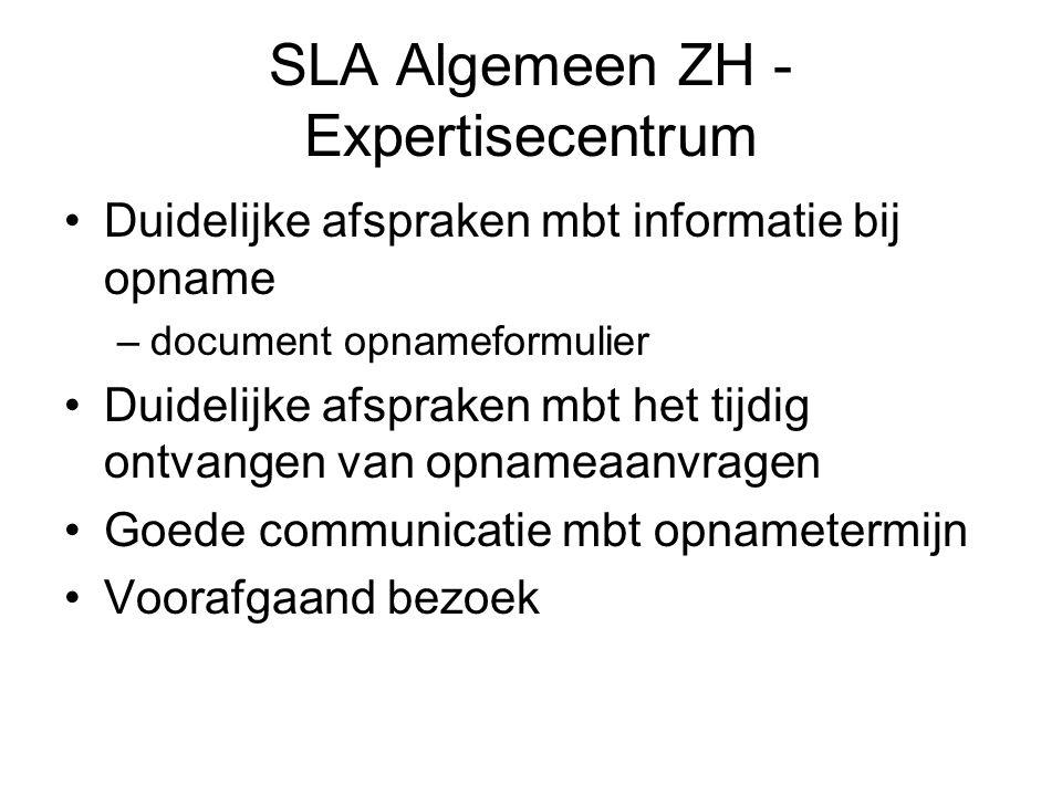 SLA Algemeen ZH - Expertisecentrum