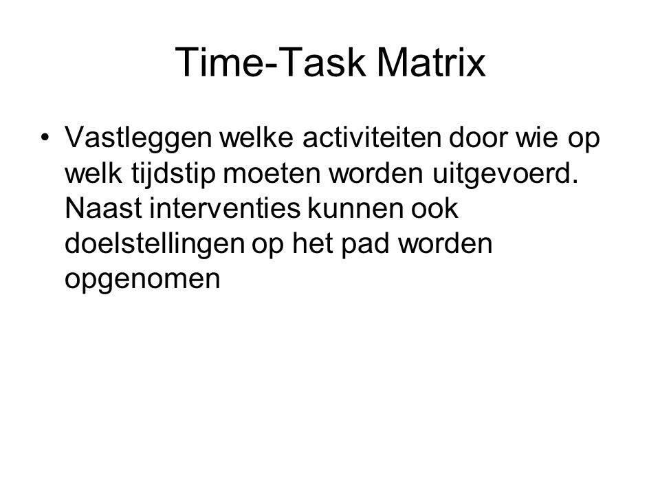 Time-Task Matrix