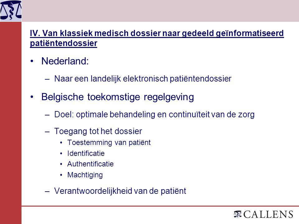 Belgische toekomstige regelgeving