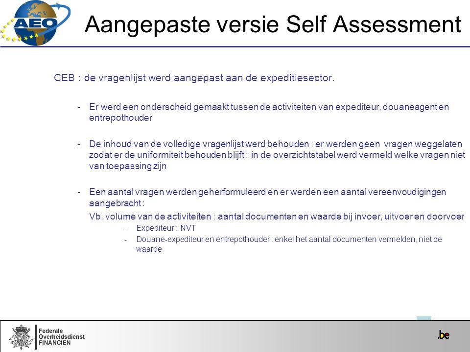 Aangepaste versie Self Assessment