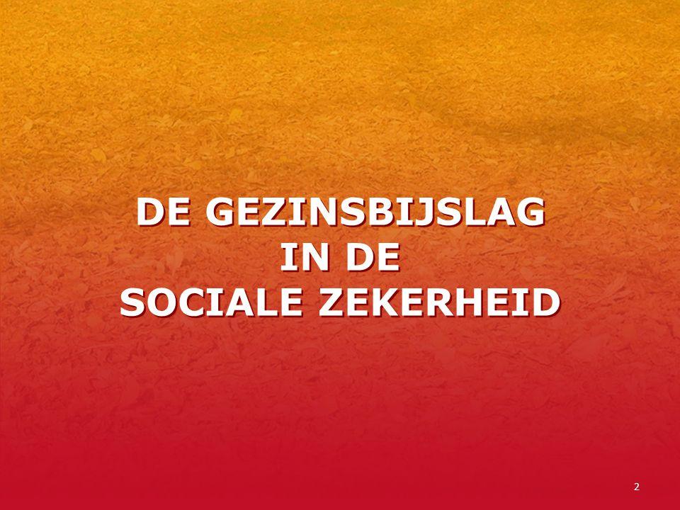 DE GEZINSBIJSLAG IN DE SOCIALE ZEKERHEID