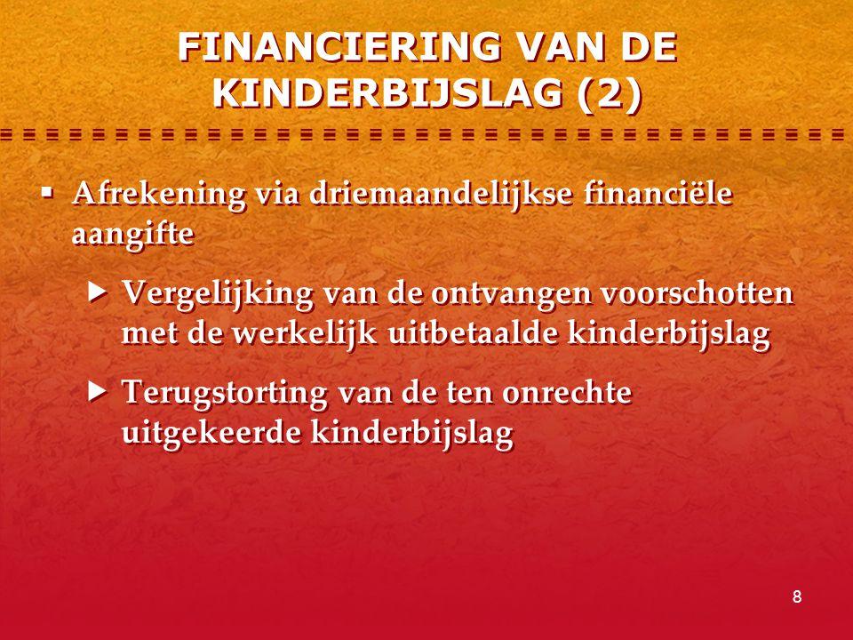 FINANCIERING VAN DE KINDERBIJSLAG (2)